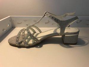 Sandaletten ungetragen - Silber