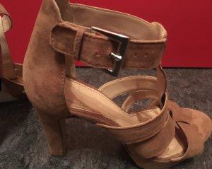 Sandaletten Veloursleder braun