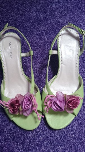 Sandals lime-green