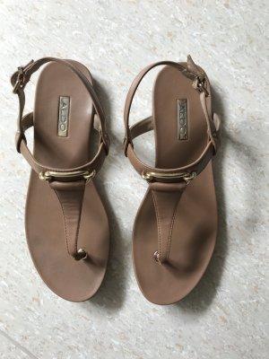 Aldo Dianette sandalen beige-goud