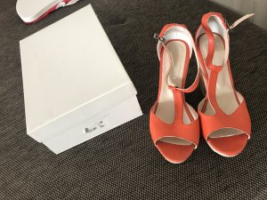 Wedge Sandals orange-cream