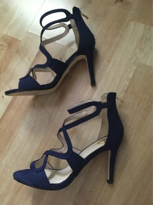 Buffalo Strapped High-Heeled Sandals blue