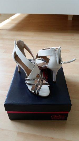 Buffalo High Heel Sandal white-silver-colored