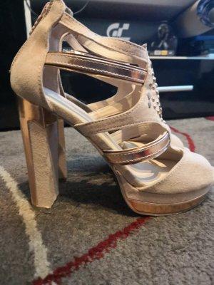 Catwalk High-Heeled Sandals gold-colored