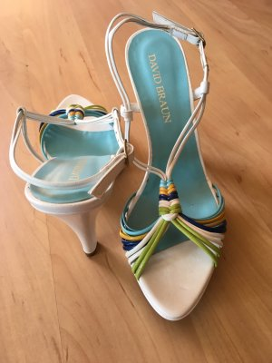 David Braun High-Heeled Sandals multicolored