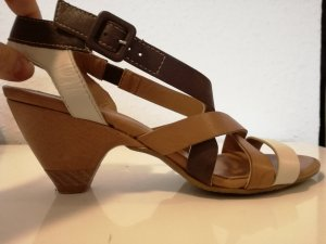 Fantasy Strapped High-Heeled Sandals multicolored leather