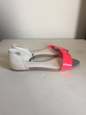 H&M High-Heeled Sandals white-neon pink