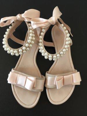Kennel + schmenger Sandalo con cinturino e tacco alto rosa antico-rosa pallido