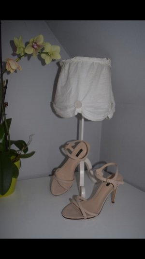 Mango High-Heeled Sandals beige
