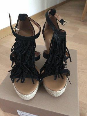 High-Heeled Sandals black-beige