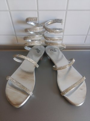 Mio High-Heeled Sandals silver-colored imitation leather