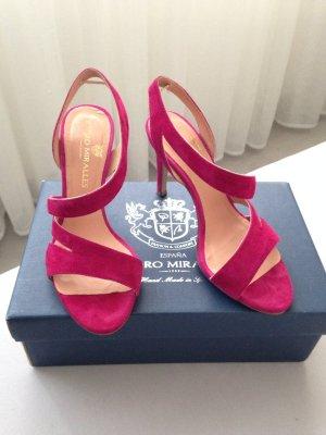Sandaletten von Pedro Miralles, fuchsia/ pink, Gr. 37