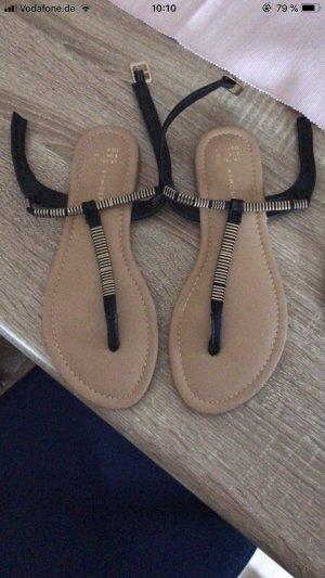 Primark High-Heeled Toe-Post Sandals black