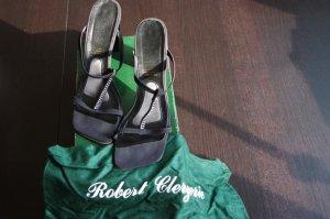Robert clergerie Strapped High-Heeled Sandals black-cream