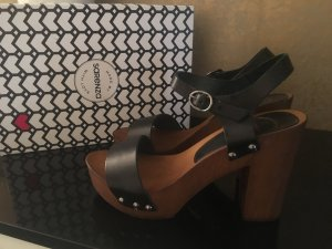 Sarenza High-Heeled Sandals black-brown leather