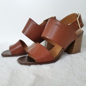 Vagabond High Heel Sandal brown-cognac-coloured leather