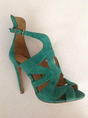 Sandaletten Wildleder Smaragdgrün 36