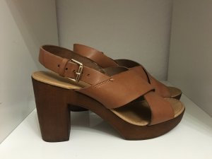 High-Heeled Sandals brown-light brown