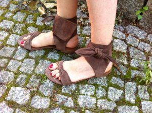 Sandaletten Zehentrenner aus Italien