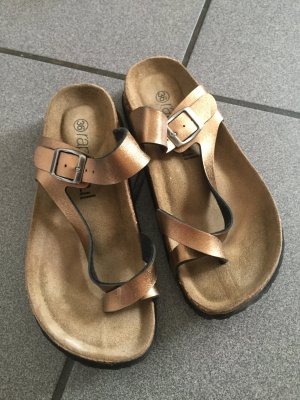 Outdoor Sandals gold-colored-sand brown leather