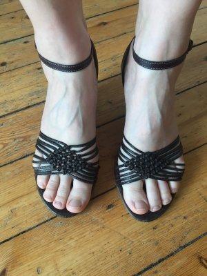Marco Tozzi Plateauzool sandalen donkerbruin