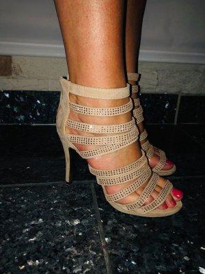 Strapped High-Heeled Sandals dusky pink