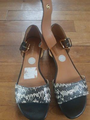 Sandalias cómodas negro Imitación de cuero