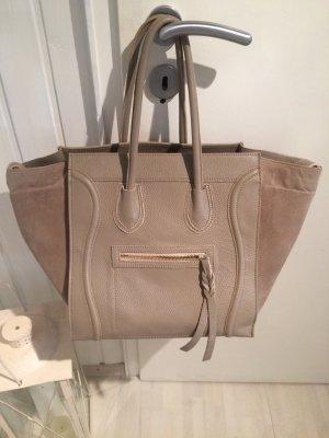 Sandfarbene Leder Tasche