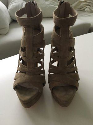 Zara High-Heeled Sandals sand brown