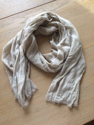 Fraas Fringed Scarf sand brown