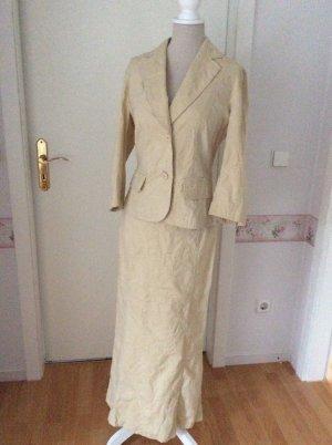 Ladies' Suit gold-colored-oatmeal cotton