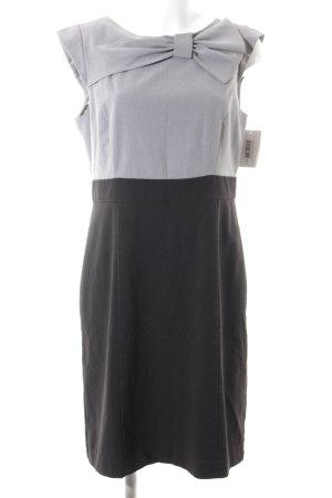 Sandra Darren schulterfreies Kleid schwarz-grau Schleifen-Detail