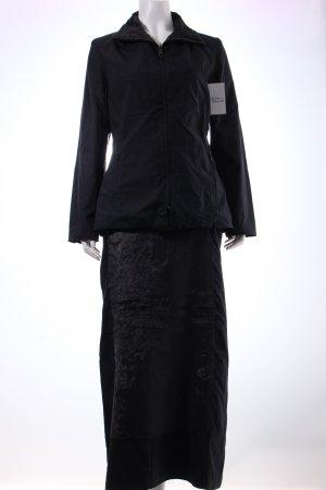 Sandra Pabst Kostüm schwarz Fellbesatz