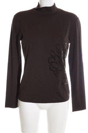 Sandra Pabst Turtleneck Shirt brown casual look