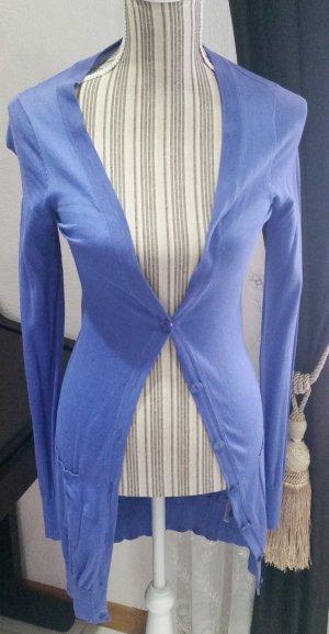 Sandra Pabst Strickjäckchen 34 XS Seide Baumwolle blau lila