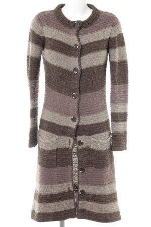 Sandra Pabst Manteau en tricot motif rayé style mode des rues