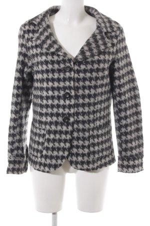 Sandra Pabst Veste en laine gris clair-noir motif en zigzag style décontracté