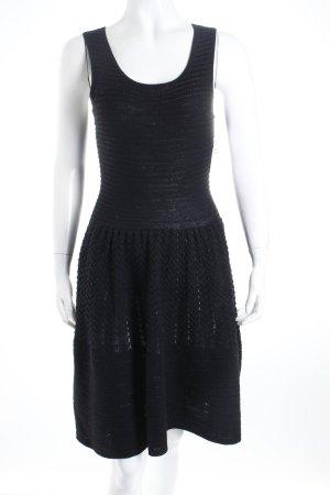 Sandro A-Linien Kleid schwarz meliert Eleganz-Look