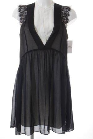Sandro A-Linien Kleid schwarz-wollweiß Elegant
