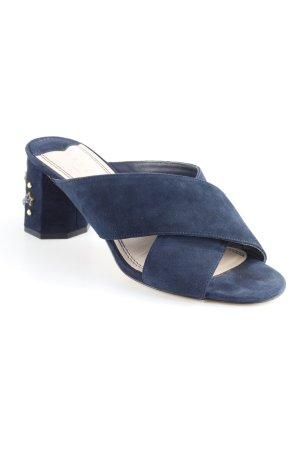 Sandro Heel Pantolettes dark blue elegant