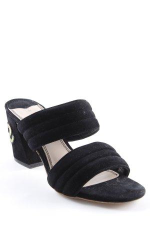 Sandro Absatz Pantoletten schwarz-hellbeige Elegant