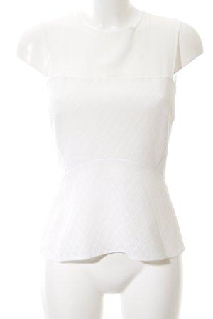 Sandro ärmellose Bluse weiß grafisches Muster Elegant