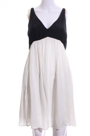 Sandro A-Linien Kleid weiß-schwarz Elegant