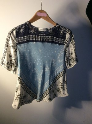 sandro Bandana Shirt 100% Seide/Silk