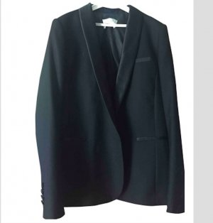 Sandro Black Shawl Collar Blazer