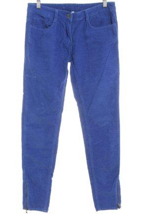 Sandro Pantalon en velours côtelé bleu style décontracté