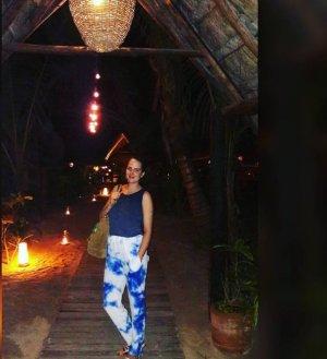 Sandro Paris High Waist Trousers white-neon blue