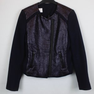 Sandro Biker Jacket black-blackberry-red viscose