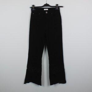 SANDRO Jeans Gr. 34 High Waist schwarz Spitze (18/11/458/R)