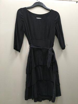 SANDRO Kleid schwarz Gr.S/ 34 mit Volants